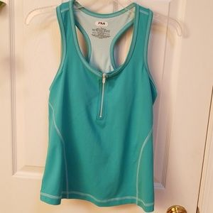 FILA sport teal green work out top